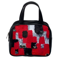 Red Black Gray Background Classic Handbags (One Side) by Simbadda