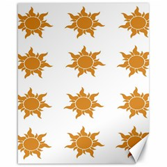 Sun Cupcake Toppers Sunlight Canvas 16  X 20   by Alisyart