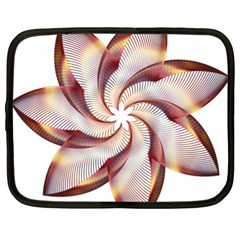 Prismatic Flower Line Gold Star Floral Netbook Case (xl)  by Alisyart