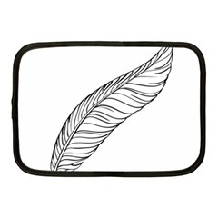 Feather Line Art Netbook Case (medium)  by Simbadda