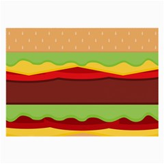 Vector Burger Time Background Large Glasses Cloth by Simbadda