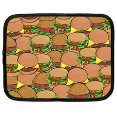 Burger Double Border Netbook Case (xl)  by Simbadda