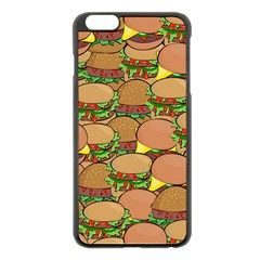 Burger Double Border Apple Iphone 6 Plus/6s Plus Black Enamel Case by Simbadda