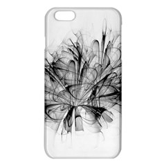 High Detailed Resembling A Flower Fractalblack Flower Iphone 6 Plus/6s Plus Tpu Case by Simbadda