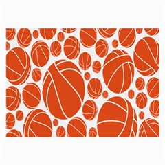 Basketball Ball Orange Sport Large Glasses Cloth (2 Side) by Alisyart