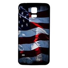 Grunge American Flag Background Samsung Galaxy S5 Back Case (White) by Simbadda