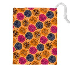Colorful Trees Background Pattern Drawstring Pouches (XXL) by Simbadda