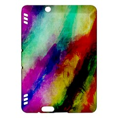 Colorful Abstract Paint Splats Background Kindle Fire HDX Hardshell Case by Simbadda