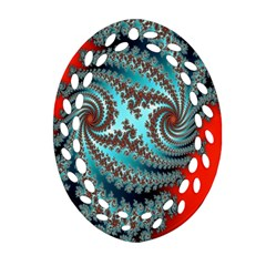 Digital Fractal Pattern Oval Filigree Ornament (two Sides) by Simbadda