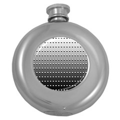 Gradient Oval Pattern Round Hip Flask (5 Oz) by Simbadda
