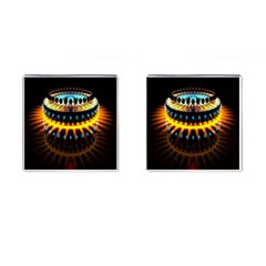 Abstract Led Lights Cufflinks (Square) by Simbadda