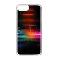 Abstract Binary Apple iPhone 7 Plus White Seamless Case by Simbadda