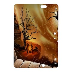 Digital Art Nature Spider Witch Spiderwebs Bricks Window Trees Fire Boiler Cliff Rock Kindle Fire Hdx 8 9  Hardshell Case by Simbadda