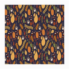 Macaroons Autumn Wallpaper Coffee Medium Glasses Cloth (2 Side) by Alisyart
