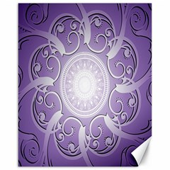 Purple Background With Artwork Canvas 16  X 20   by Alisyart