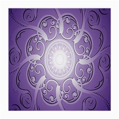 Purple Background With Artwork Medium Glasses Cloth by Alisyart