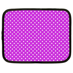 Polka dots Netbook Case (XXL)  by Valentinaart