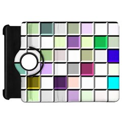 Color Tiles Abstract Mosaic Background Kindle Fire Hd 7  by Simbadda