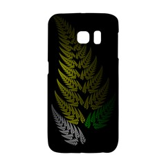 Drawing Of A Fractal Fern On Black Galaxy S6 Edge by Simbadda