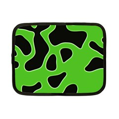 Black Green Abstract Shapes A Completely Seamless Tile Able Background Netbook Case (Small)  by Simbadda
