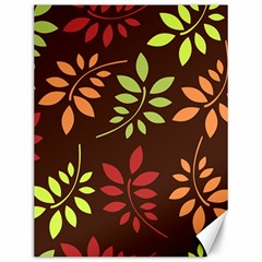 Leaves Wallpaper Pattern Seamless Autumn Colors Leaf Background Canvas 12  X 16   by Simbadda