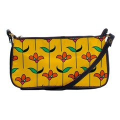 Small Flowers Pattern Floral Seamless Vector Shoulder Clutch Bags by Simbadda
