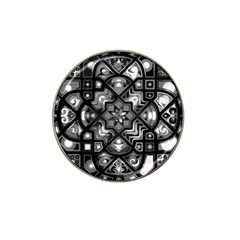 Geometric Line Art Background In Black And White Hat Clip Ball Marker by Simbadda