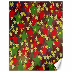 Star Abstract Multicoloured Stars Background Pattern Canvas 12  X 16   by Simbadda