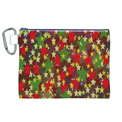 Star Abstract Multicoloured Stars Background Pattern Canvas Cosmetic Bag (xl) by Simbadda