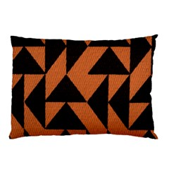 Brown Triangles Background Pillow Case (two Sides)