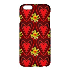 Digitally Created Seamless Love Heart Pattern Tile Apple Iphone 6 Plus/6s Plus Hardshell Case by Simbadda