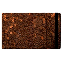 Brown Sequins Background Apple iPad 2 Flip Case by Simbadda