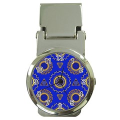 Abstract Mandala Seamless Pattern Money Clip Watches