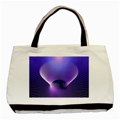 Lines Lights Space Blue Purple Basic Tote Bag