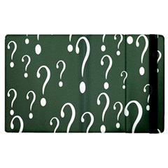Question Mark White Green Think Apple Ipad 2 Flip Case by Alisyart
