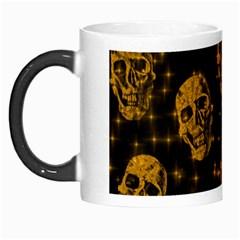 Sparkling Glitter Skulls Golden Morph Mugs