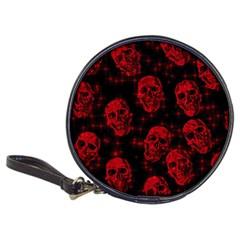 Sparkling Glitter Skulls Red Classic 20-CD Wallets