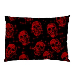Sparkling Glitter Skulls Red Pillow Case (Two Sides)