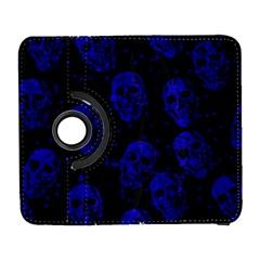 Sparkling Glitter Skulls Blue Galaxy S3 (Flip/Folio)