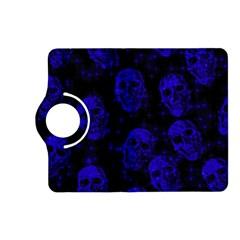 Sparkling Glitter Skulls Blue Kindle Fire HD (2013) Flip 360 Case