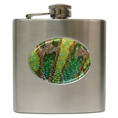 Colorful Chameleon Skin Texture Hip Flask (6 Oz) by Simbadda