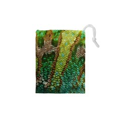 Colorful Chameleon Skin Texture Drawstring Pouches (xs)  by Simbadda