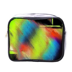 Punctulated Colorful Ground Noise Nervous Sorcery Sight Screen Pattern Mini Toiletries Bags by Simbadda