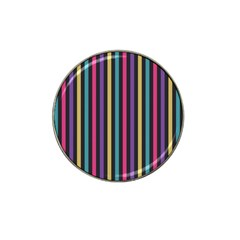 Stripes Colorful Multi Colored Bright Stripes Wallpaper Background Pattern Hat Clip Ball Marker by Simbadda