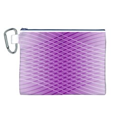 Abstract Lines Background Pattern Canvas Cosmetic Bag (l) by Simbadda