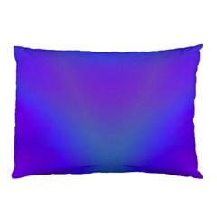 Violet Fractal Background Pillow Case (two Sides)