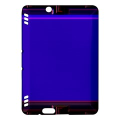 Blue Fractal Square Button Kindle Fire HDX Hardshell Case by Simbadda