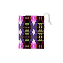 Geometric Abstract Background Art Drawstring Pouches (XS)  by Simbadda