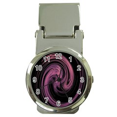 A Pink Purple Swirl Fractal And Flame Style Money Clip Watches
