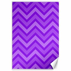 Zig Zags Pattern Canvas 12  X 18   by Valentinaart